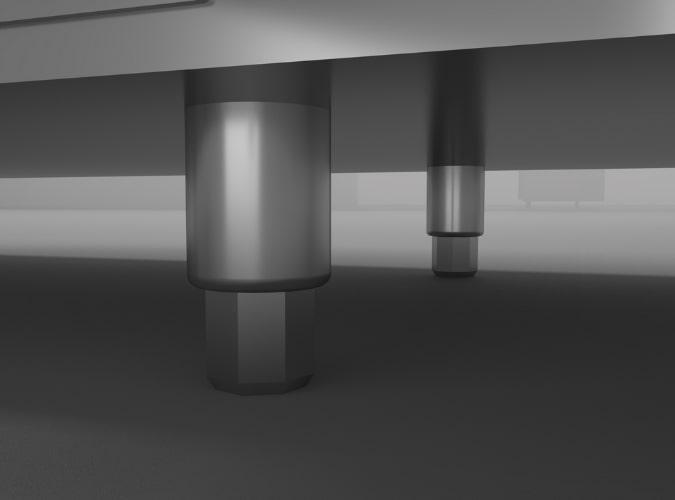 Chân tăng chỉnh inox cố định vị trí tủ chắc chắn