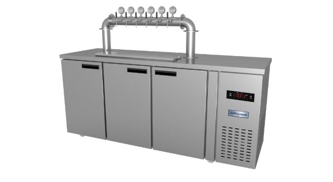 Tủ bia khô nước 12 bom 20L US