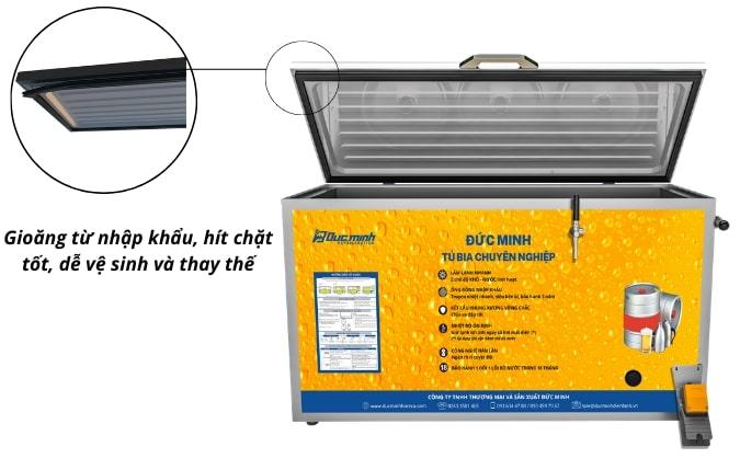 Gioăng từ tiêu chuẩn, có độ hít chặt tốt, tránh thất thoát nhiệt lạnh