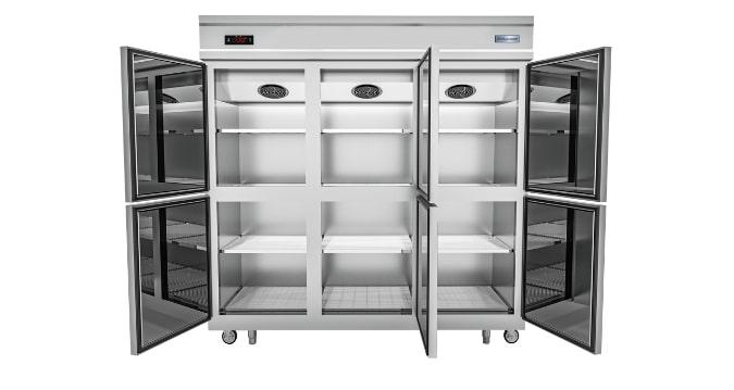 Hệ thống tầng giá tùy chỉnh vị trí, thuận tiện trữ đông thực phẩm