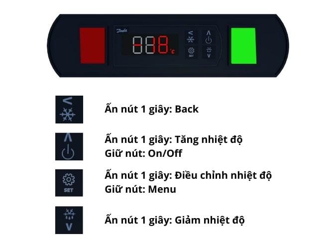 Bảng điều khiển điện tử hiển thị nhiệt chuẩn xác, điều chỉnh nhiệt dễ dàng