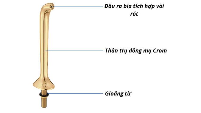 Trụ bia vàng Talos 1 vòi
